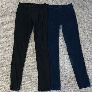 Uniqlo bundle of TWO stretch jeggings skinny jeans